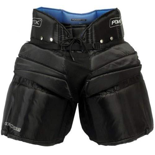 PowerTek V5.0 Barikad Ice Hockey Goalie/Goaltender Pants, Black (Black, Youth L/XL) ()