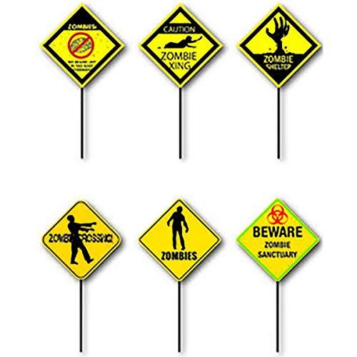 Eclectic Blackbird Scary Fun Halloween Zombie Yard Signs, Set of 6]()