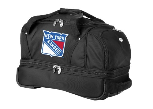 nhl-new-york-rangers-denco-22-inch-drop-bottom-rolling-duffel-luggage-black