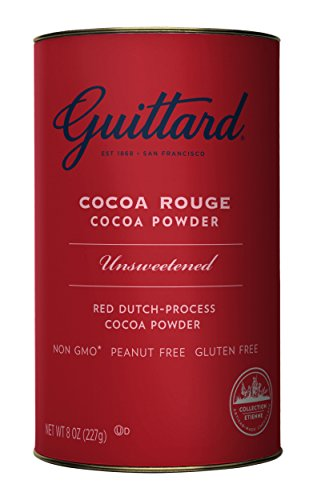 Cocoa Red (E Guittard Cocoa Powder, Unsweetened Rouge Red Dutch Process Cocoa, 8oz Can)