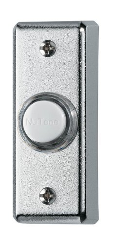 Chrome Doorbell (NuTone PB69LPC Wired Lighted Door Chime Push Button, Polished Chrome)