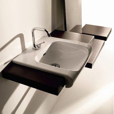 Ceramic Bathroom Sink in White