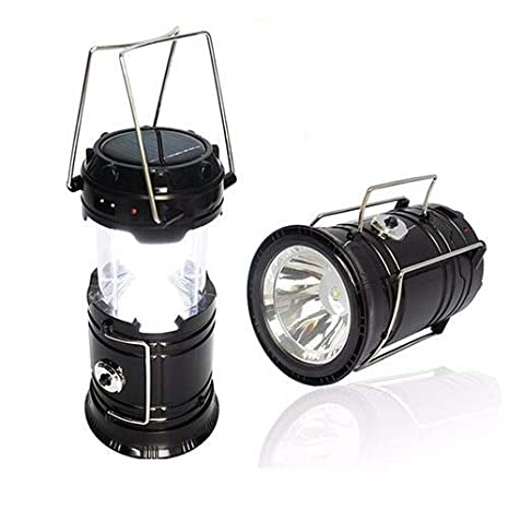 SahiBUY Retractable Solar Rechargeable Led Emergency Lantern cum USB Mobile Charger