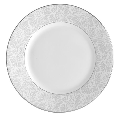 Wedgwood Vera Chantilly Lace Gray Accent Salad Plate, -