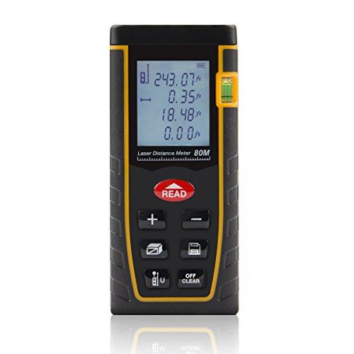 Shentec Laser Distance Measure, 262ft Handheld Digital Me...