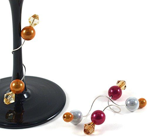 Talisman Designs Stylish Stems Wine and Drink Charms, Art Deco Bright