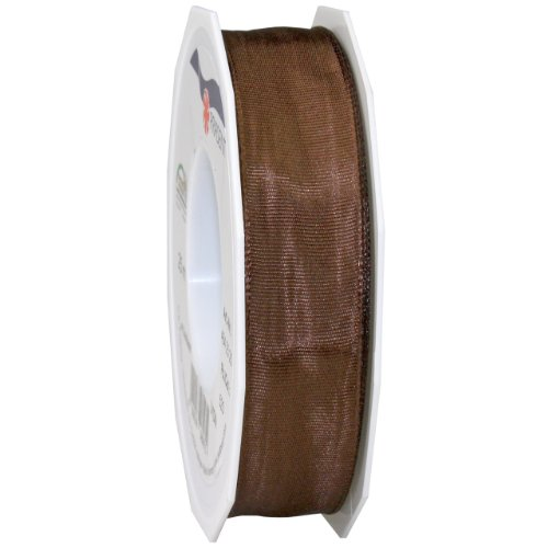 (Morex Ribbon French Wired Lyon Ribbon, 1-Inch by 27-Yard Spool, French Roast)