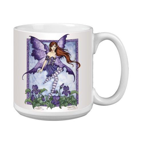 (Tree-Free Greetings XM27570 Amy Brown Artful Jumbo Mug, 20-Ounce, Fantasy Violet Fairy)