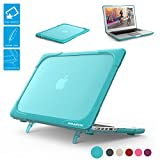 BARECNstock Macbook Pro Retina 13 inch Case (Version 2015/2014,etc.)  [Heavy Duty] Slim Rubberized [Snap on] [Dual Layer] Hard Case Cover with fold kickstand for Apple Macbook Pro 13-inch-Light blue