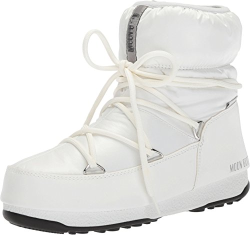 separation shoes 2b3fa 52a2b Tecnica Women's Moon Boot Low Nylon White/Silver 41 B EU