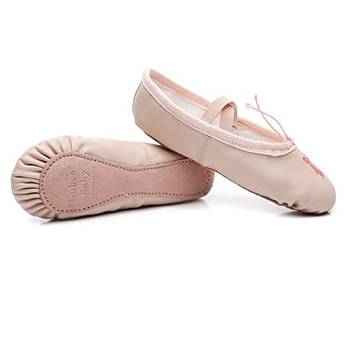 DubeeBaby Leather Ballet Shoes for Girls,Ballet Slippers Flats Dance Shoes(Toddler/Little Kid/Big...