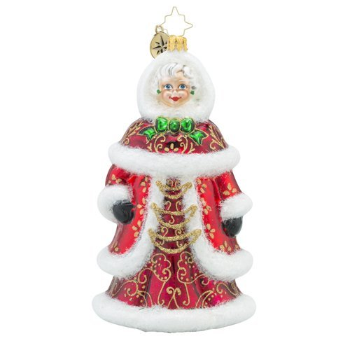 Christopher Radko The Prettiest Sight to See Santa Claus Lady Christmas Ornament by Christopher Radko by Christopher Radko (Image #1)