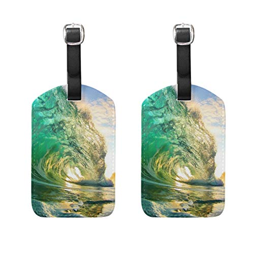 Luggage Tags Beaches Clear Green Crystal Womens Bag