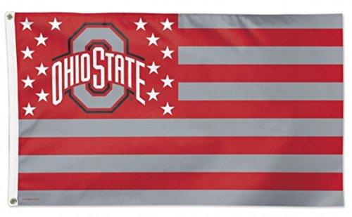 - Ohio State Buckeyes America Stars & Stripes Deluxe Indoor Outdoor Flag (3' x 5')