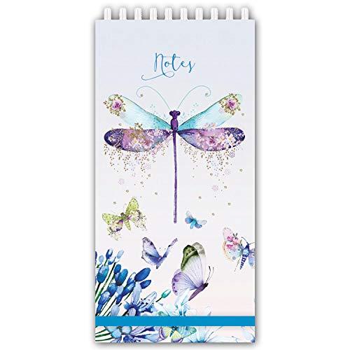 Slim Wirebound Cover - Robert Frederick RFS12390 Pizazz Butterfly Slim Note Pad