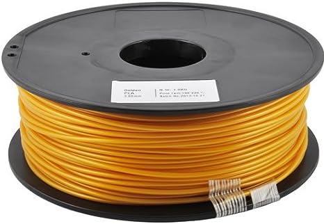 Pla dorado para impresoras 3d – 1 kg – 1,75 mm – Bobina de 1 kg de ...