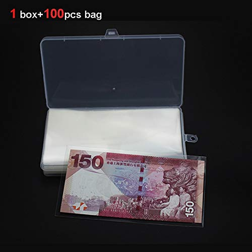 Best Quality - Home Office Storage - banknote Collection case/Box Comes with 100pcs OPP banknote Protection Bag - by BLUESKYUP - 1 ()