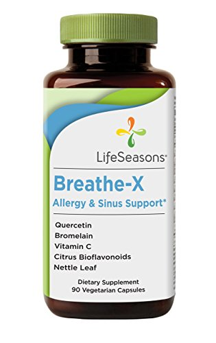 Breathe-X Allergy & Sinus Support - Natural Sinus and Allergy Supplement (90 Capsules)