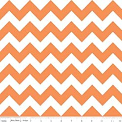 Chevron Stripe Orange Flannel Fabric SKU F320-60 Riley Blake Designs