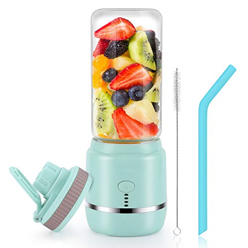 Portable Blender, Personal Blender, Mini Juicer Cup USB Rechargeable and Personal Size Blender Smoothies akes,402ml…