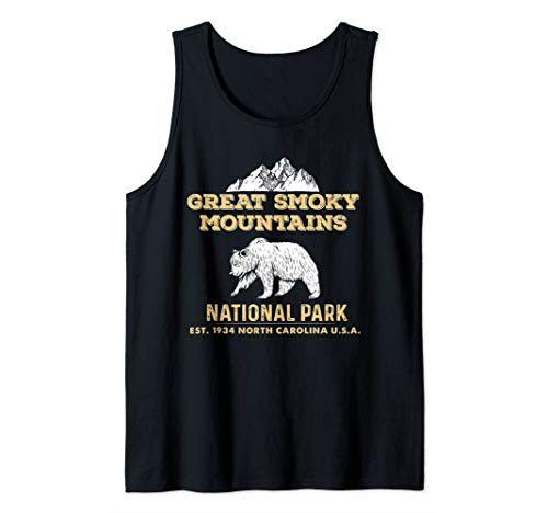 Great Smoky Mountains National Park North Carolina Bear Hike Tank Top