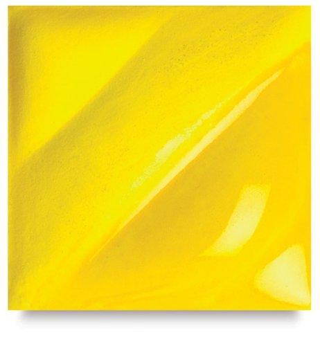 AMACO Velvet Lead-Free Non-Toxic Semi-Translucent Underglaze, 1 pt Jar, Intense Yellow V-391