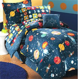 space galaxy planets buzz 6pc bedding set twin single size - Space Bedding