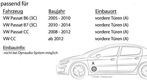VW Passat 3c//cc auto altavoces puerta delantera