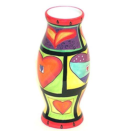 Mary Naylor Heart Design Round Vase