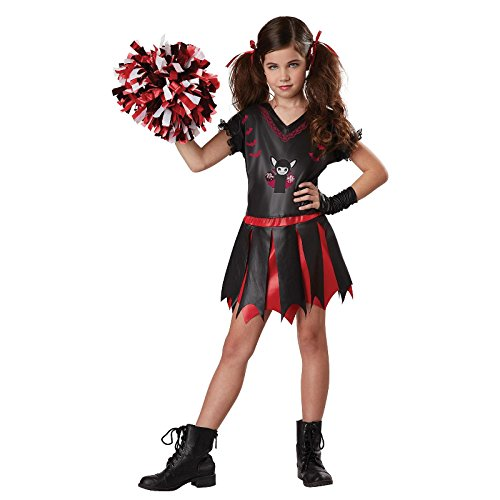 Cheerleader Costume Size 8 (Totally Ghoul Varsity Vamp Costume, Girls Size X-large, Ages 8-14)