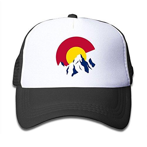 Oyxinyu Colorado Rocky Mountain Mesh Baseball Cap Toddler Adjustable Sun Hat for Boy Girl