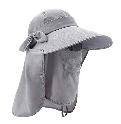 (Epsion Women Summer Neck Flap Sun Visor/Hats Wide Brim UV Protection UPF 50+ Hiking Cap Adjustable)