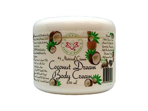 Protective Anti Aging Body Cream (Organic Fields of Heather Coconut Dream Organic Body Cream With Botanically Infused Ingredients, 8.0 fl. Oz)