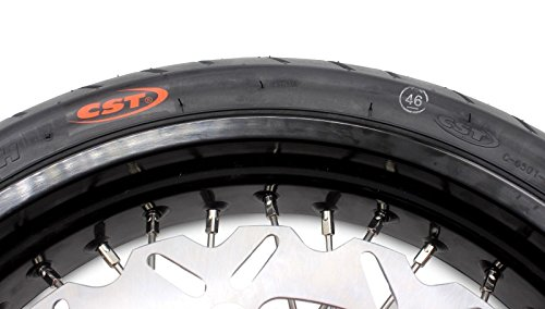 KKE KTM SUPERMOTO WHEELS RIMS SET KIT & TIRE EXC SX XCW XCF 125 250 350 530 3.5/5.0 SUPERMOTO WHEEL SET WITH TIRE & DISC by KKE (Image #8)