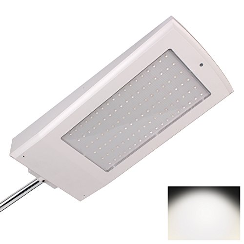 Price comparison product image Hiomu Radar Motion Sensor Solar Lights 108 LED 2100lm 15W IP65 ABS+UV Waterproof Super Bright Outdoor Security Night Light for Wall Garden Path Street (White Color & White Light)