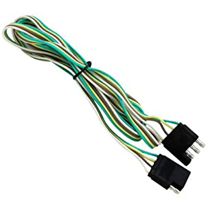 41KDTZ4qpBL._SY300_ amazon com 4 way wiring 5' extension kit trailer light wiring kit 4 wire trailer harness extension at alyssarenee.co