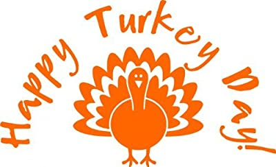 Decal – Vinyl Wall Sticker : Turkey – Thanksgiving Holiday Fall Season Peel & Stick Picture Art Decoration Size : 12 Inches X 12 Inches - 22 Colors Available