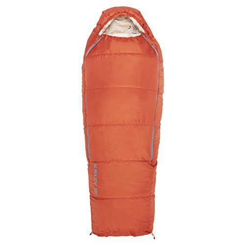 Kelty Woobie 30 Degree Kids Sleeping Bag, Burnt Sienna, Short, Stuff Sack Included - Children's Sleeping Bag Ideal for Sleepovers, Camping, Backpacking and More