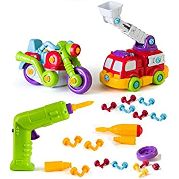 Build And Play Take A Part Toys Vehicle Set Includes Power Tool Drill