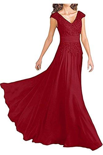 Damen Braut Ausschnitt Abendkleider mia Dunkel V Rot Royal Promkleider Spitze La Abiballkleider Blau Abschlussballkleider q5WfEw6n8Y