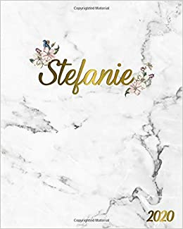 Stefanie 2020: Marble & Gold 2020 One Year Weekly & Monthly ...