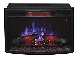 """ClassicFlame 25EF031GRP 25"""" Curved Electric Fireplace Insert with Safer Plug from Twin Star International, Inc."""