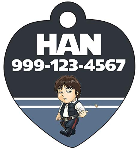 uDesignUSA Disney Star Wars Han Solo Pet Id Tag for Dogs & Cats Personalized w/Name & Number]()