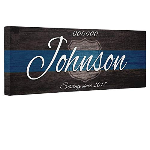 Blessed Police Officer Gift Canvas Wall Art Decor]()
