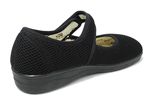Celia Ruiz Womens Ladies X Wide EEE Fit Washable Mesh Shoes Velcro Pumps Black Size 3 4 5 6 6.5 7 8 w7pYk2BI