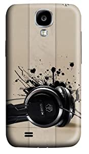 Headphones music Polycarbonate Hard Case Cover for Samsung Galaxy S4/Samsung Galaxy I9500 3D