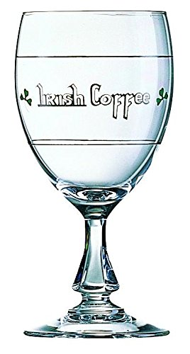 6 x Irish Coffee Glas, Kaffeeglas mit Henkel, Hartglas, 24.5 cl, Ø 6.8 cm, Höhe: 15 cm