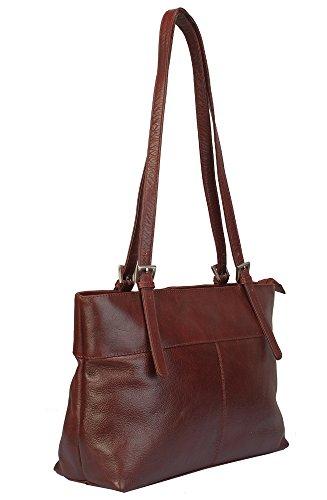 """Vilenca """"40560 Marrone"""" Signore borsa a tracolla, borsa di cuoio per le donne, Dimensioni-L34cmxH28cmxB10cm"""