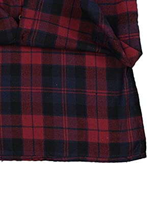 Zanzea Womens Buffalo Plaid Button Down Shirt Flannel Long Sleeve Tops Grunge Collar with Pocket