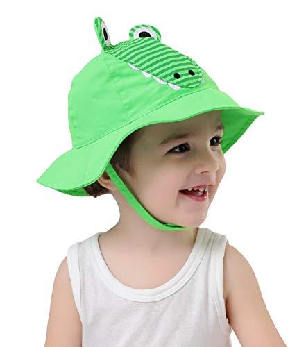 Connectyle Baby Toddler Kids Cute Wide Brim Sun Hat Cartoon Sun Protection Hat (S:3M-6M(46cm/18.1